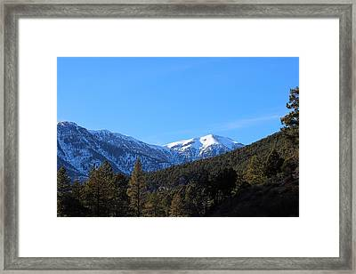 Mount Charleston Framed Print