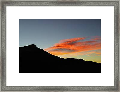 Mount Charleston Sunset Framed Print