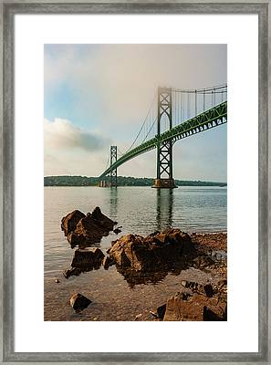 Framed Print featuring the photograph Mount Hope Bridge IIi Color by David Gordon