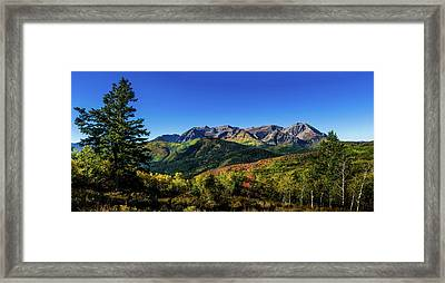 Framed Print featuring the photograph Mount Timpanogos by TL Mair