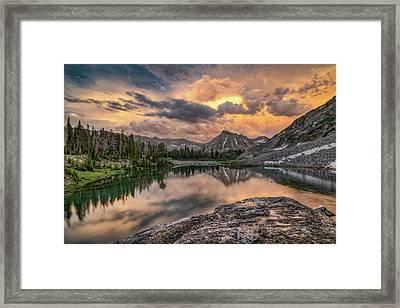 Mountain Beauty Framed Print by Leland D Howard