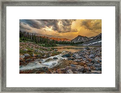 Mountain Glow Framed Print by Leland D Howard
