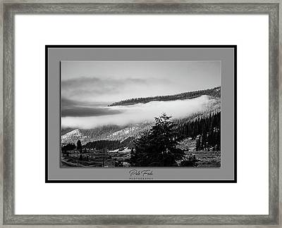 Framed Print featuring the photograph Mountain Mist by Pete Federico