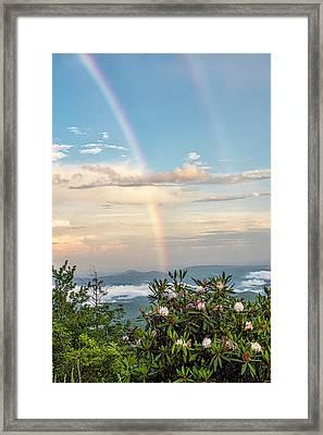 Framed Print featuring the photograph Mountain Rainbow Vertical by Ken Barrett