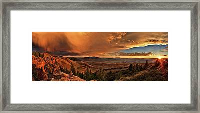 Mountain Sunset Framed Print