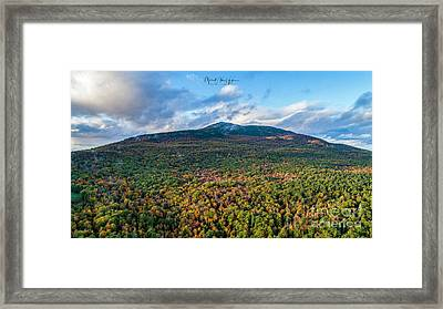 Framed Print featuring the photograph Mountain That Stands Alone by Michael Hughes