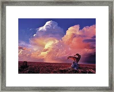 Mountain Thunder Shower Framed Print