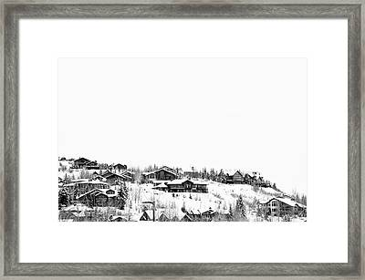 Mountain Top Framed Print by Dana Klein