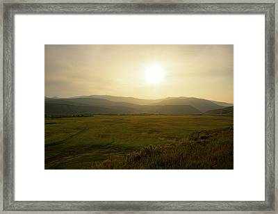 Mountains At Dawn Framed Print