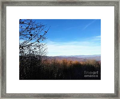 Framed Print featuring the photograph Mountains For Miles by Rachel Hannah