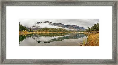 Framed Print featuring the photograph Mountainside Reflections by Leda Robertson