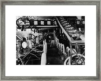 Moving Assembly Line Framed Print by Hulton Archive