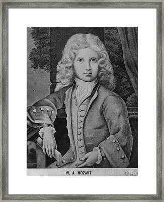 Mozart As Child Framed Print by Hulton Archive