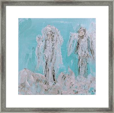 Mr And Mrs Angels Framed Print