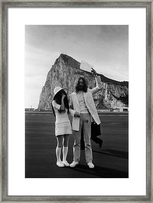 Mr And Mrs Lennon Framed Print by Simpson