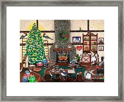 Ms. Elizabeth's Holiday Home Framed Print