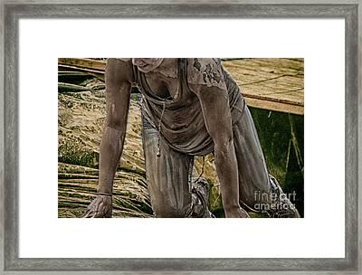 Mud Crawl  Framed Print by Steven Digman