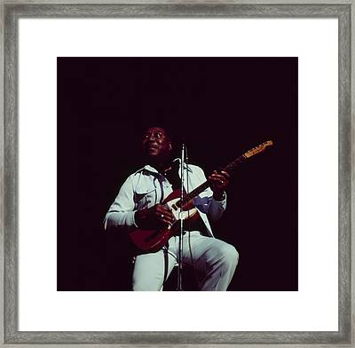 Muddy Waters Perfoms On Stage Framed Print by David Redfern