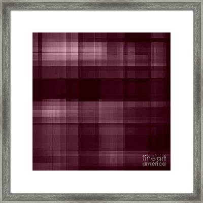 Framed Print featuring the digital art Mulberry Plaid by Rachel Hannah
