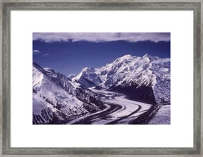 Muldrow Glacier Framed Print by Hulton Archive