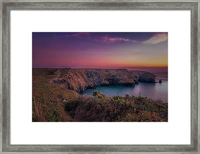 Mullion Cove Cornwall Sunset Framed Print