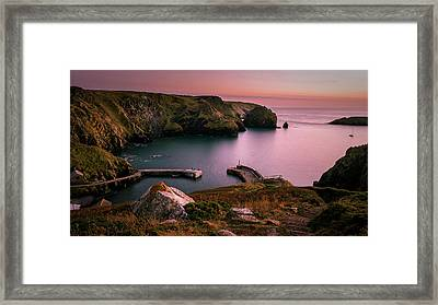 Mullion Cove Sunset - Cornwall General View Framed Print