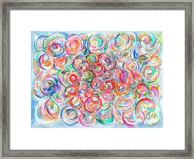 Multicolor Bubbles Framed Print