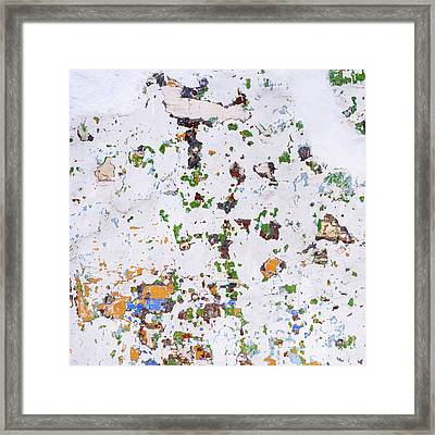 Framed Print featuring the photograph Multicolored Vintage Painted Wall by Tim Hester