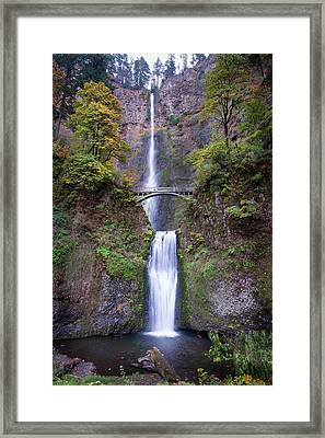Framed Print featuring the photograph Multnomah Fallas 110718 by Rospotte Photography