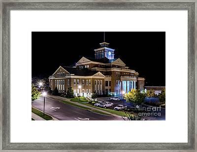 Municipal Center At Night - North Augusta Sc Framed Print