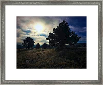 Framed Print featuring the photograph Murky Atmosphere Elk Meadow by Dan Miller