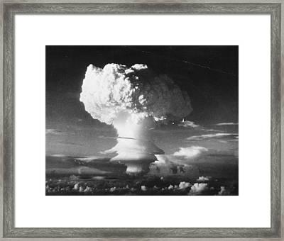 Mushroom Cloud Framed Print by Three Lions