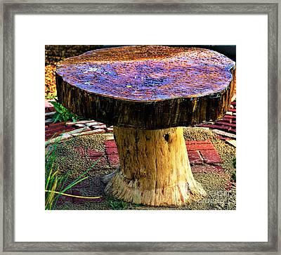 Mushroom Table Framed Print