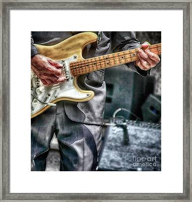 Music By The Neck  Framed Print by Steven Digman