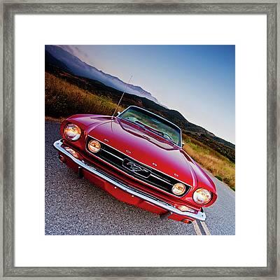 Mustang Convertible Framed Print