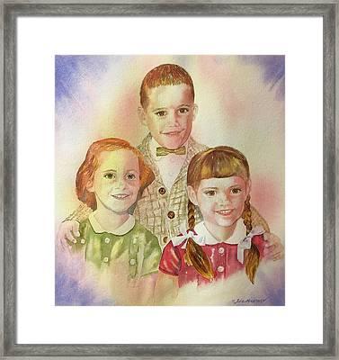 The Latimer Kids Framed Print