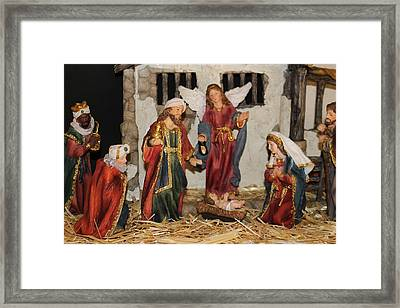 My German Traditions - Christmas Nativity Scene Framed Print