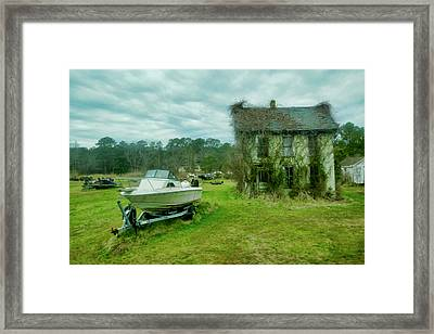Auntie's Old House Framed Print