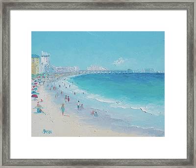 Myrtle Beach And Springmaid Pier Framed Print