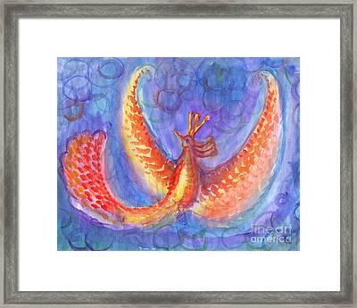 Mystical Phoenix Framed Print