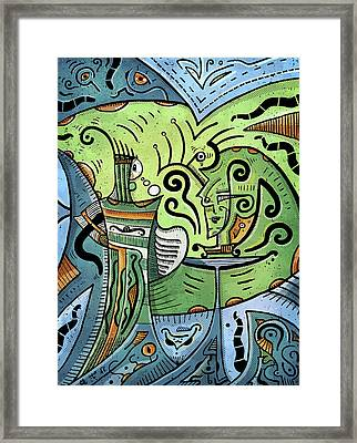 Framed Print featuring the painting Mystical Powers by Sotuland Art