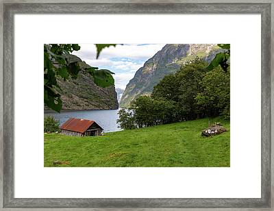 Framed Print featuring the photograph Naeroyfjord, Norway by Andreas Levi
