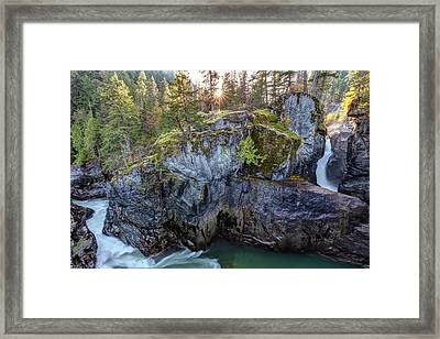 Framed Print featuring the photograph Nairn Falls Of Pemberton, Bc by Pierre Leclerc Photography