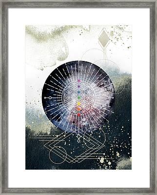 Framed Print featuring the digital art Namaste by Bee-Bee Deigner