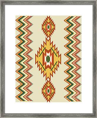 Native American Rug Framed Print