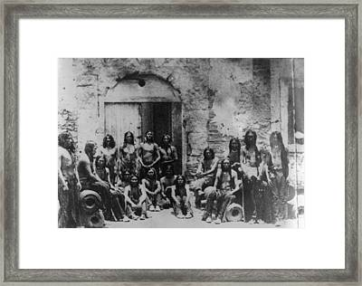Native Americans Framed Print by Hulton Archive