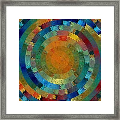 Native Sun Framed Print
