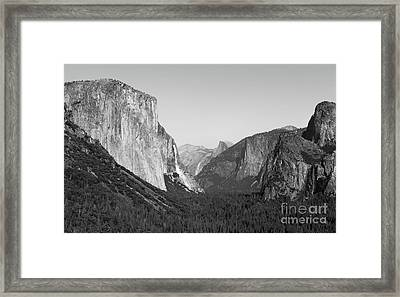 Nature At Its Best - Black-white Framed Print