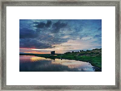 Framed Print featuring the photograph Nature Spectacle In Alviso by Quality HDR Photography