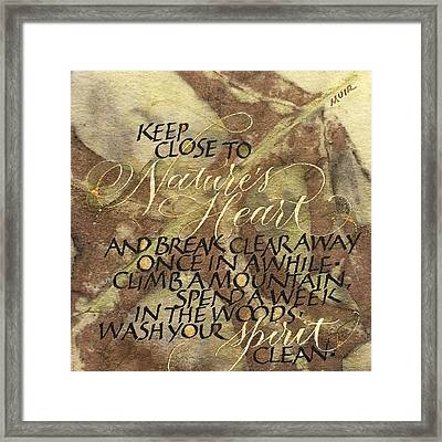 Nature's Heart Framed Print